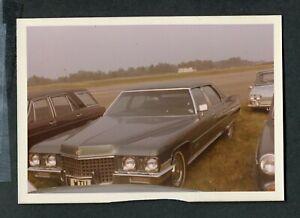 Vintage Color Photo 1970 1971 Cadillac Sedan Car in Parking Lot 429080
