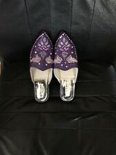 Moroccan slippers/ Babouches.  Small Female Size 7 Purple