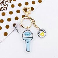 Kpop Seventeen Lightstick Cute Acrylic Keychain Bag Pendant Charm Keyring