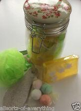 Spa in a Jar Mum Mummy Mothers Day Gift Hamper Bath bomb Slice soap Birthday