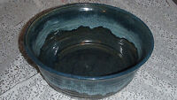 Large Handmade Two-tone Teal & Brown Glaze Clay Stoneware Bowl