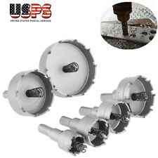 6Pcs 22-65mm Diamond Cemented Carbide Hole Saw Bit Metalworking Cutter Tool US