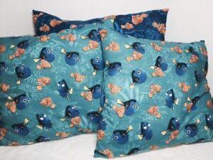 Set Of 3 Finding Nemo Pillows Disney's Nemo and Dory HANDMADE USA A492
