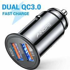 Ainope USB cargador de coche, Puerto Dual QC3.0 [] 36W/6A [todo de metal] Rápido Cargador De Coche