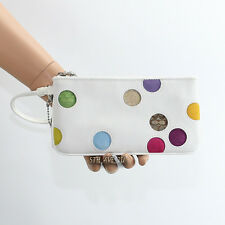 New Coach Leather Polka Dot Wallet Wristlet Clutch FS6557 Limited Edition RARE