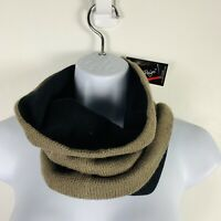 Charlie Paige Womens Neck Scarf Black Tan Winter Warm Accessory New NB53