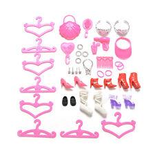 Puppe Zubehör Schuhe Tasche Aufhänger Kamm Armband für Barbie-Puppen NB