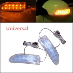 Heatproof Truck Yellow Side Mirror Soft Turn Signal Light Amber Indicator Lamp