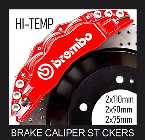 BREMBO BRAKE CALIPER STICKERS DECALS HI-TEMP VINYL