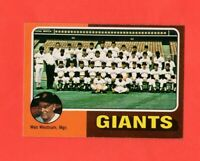 1975 OPC O PEE CHEE # 216 San Francisco Giants Team Checklist t nrmnt+