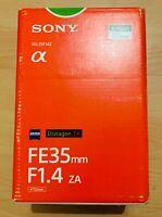 SONY SEL35F14Z E Mount - Full Frame Distagon T* 35mm F1.4 Zeiss Lens