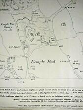 OLD ORDNANCE SURVEY MAP NIDDERDALE MID WHAREFDALE 1910 BLUBBERHOUSES PATELEY BGE