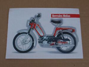 Original Werbung Prospekt Din A4 Hercules Prima GX, 2S 3S, 4 5 5S Mofa Moped