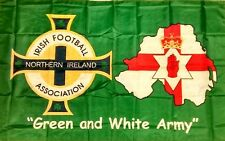 "New Northern Ireland Green and White Army Flag ""GAWA FLEGG!"" Norn Iron 5ft x 3ft"