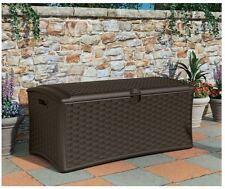 Suncast Large Resin Patio Garden Storage Deck Box Furniture Cushion Container
