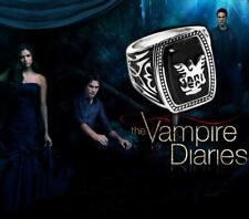 The Vampire Diaries Jeremy Gilbert, Black Agate, Antique Silver, Daylight Ring