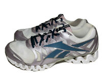 Reebok ZigTech 3.0 Womens 9.5 Running Shoes White Purple Navy Athletic Sneakers