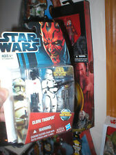 STAR WARS CLONE WARS CLONE TROOPER WITH BACKPACK THAT FIRES MISSILES, UNOPEN