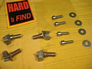 Vintage MAFAC SET 4x BRAZE-ON BOSSES .NOS.with STAINLESS FIXXINGS.CANTILEVER/VEE