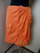 Athleta Ruched Drawstring Waist Skirt Orange Lined Size Small S