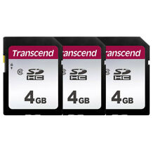 3 Pack Transcend 4GB SDHC Secure Digital Class 10 Memory Card, TS4GSDHC10