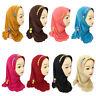 One Piece Amira Hijab Muslim Kid Girl Headscarf Instant Turban Islam Shawl Wrap