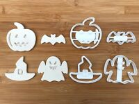 4 pcs Halloween set 2 Uk Seller Plastic Biscuit Cookie Cutter Fondant Cake Decor