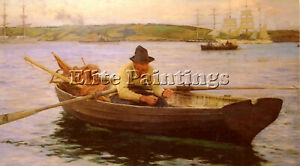 HENRY SCOTT TUKE THE FISHERMAN ARTIST PAINTING REPRODUCTION HANDMADE OIL CANVAS