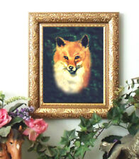 Reynolds RED FOX Art Print Reynard Antique Style Small Framed 11X13 Horse
