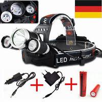 Für 8000LM XM-L Cree T6 3x LED Scheinwerfer Taschen Kopflampe Stirnlampe 18650