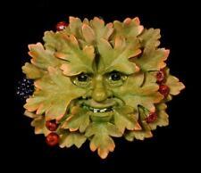Garten Wandrelief - Weißdorn bunt - Baum Gesicht Geist Greenman Deko