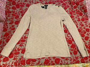 Lauren Ralph Lauren Womens Long Sleeve Shirt button shoulder XL