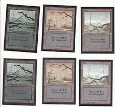 Lot de x6 cartes Swamp Collector´s Edition Beta MAGIC MTG ENGLISH 1993 EX-NM