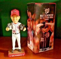 MAX SCHERZER Bobblehead CY YOUNG Washington Nationals MLB Baseball 2018 SGA NEW!