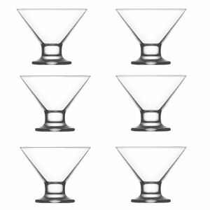 Box of 6 Martini cocktail glasses or sundae dessert glasses 195ml crema