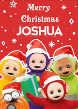TELETUBBIES Personalised Christmas Card - Add you own name