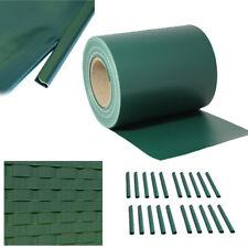 PVC 35m Sichtschutz Blickdicht Sichtschutzfolie Doppelstabmatten Zaun Folie Grün