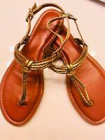 New Gianni Bini Gold Sandals Women's Size 9 M