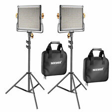 Genuine Neewer Dimmable Bi-Color 480 LED Video Light and Stand Light Kit 2 Pack