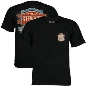 Tony Stewart #14 Nascar Black Down Force Pocket Tee Men's XL