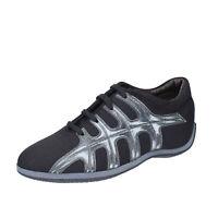 Chaussures Femme HOGAN 36,5 Ue Baskets Noir Tissu BK587-36,5