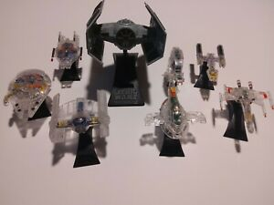 STAR WARS ~ MICRO MACHINES X-RAY FLEET ~ VADERS TIE FIGHTER SLAVE 1 X-WING AT-AT