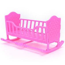 Darling Doll Furniture for American Girl Rocking Cradle Bed Pink ATAU