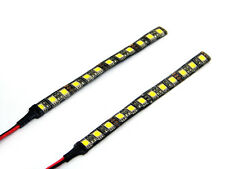 Pair of Very Bright Universal White LED Stick-on Strips Motorcycle Car Quad Bike