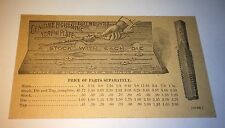 Antique Victorian American Lighting Screw Advertising Tool Price List Trade Card