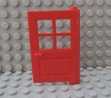 LEGO Red DOOR 1X4X5 , 4 Panes Windows House Town Building