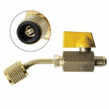 R410a R134a Brass Shut Thread Tool Valve Refrigerant HVAC For A/C Charging Hoses