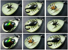 10pcs Real Lovely Spider Scorpion&Green Beetle Style Glow Chic Pendants on sale
