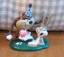 TAZ & BUGS BUNNY BIRTHDAY PVC FIGURE, Cake Topper, Decopac, Applause