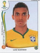 N°042 LUIZ GUSTAVO # BRASIL STICKER PANINI WORLD CUP BRAZIL 2014